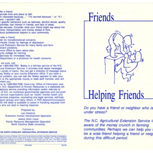 Friends helping friends (Home Extension Publication 331)