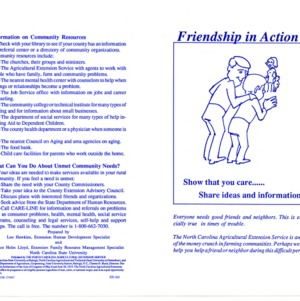 Friendship in action (Home Extension Publication 343)