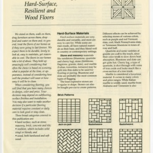 Selecting and caring for hard-surface, resilient and wood floors (Home Extension Publication 359)