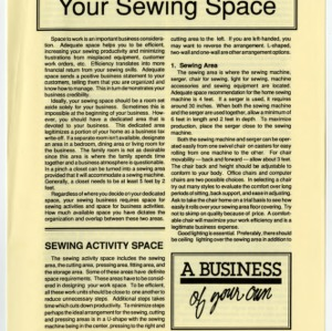 Your sewing space (Home Extension Publication 361-2)