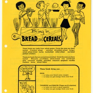 Bring in bread and cereals: funsheet 5 (Expanded Food and Nutrition Education Program 14, Reprint)