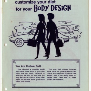 Customize your diet for your body design (Expanded Food and Nutrition Education Program 34, Reprint)