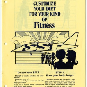Customize your diet for your kind of fitness (Expanded Food and Nutrition Education Program 35, Reprint)