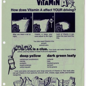Vitamin A: How does vitamin a affect your driving? (Expanded Food and Nutrition Education Program 40, Reprint)
