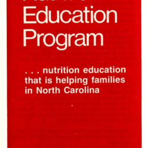Expanded Foods and Nutrition Education Program ... nurturing education that is helping families in North Carolina (Expanded Food and Nutrition Education Program 55)