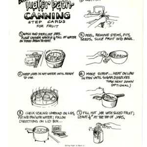 Boiling water bath canning : step cards for fruit (Expanded Food and Nutrition Education Program 124)