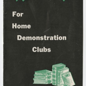 Good Reading For Home Demonstration Clubs 1949