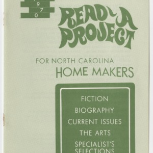 1970 Read-A-Project For North Carolina Home Makers
