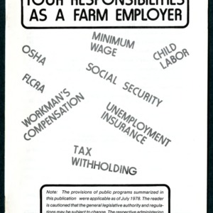Your responsibilities as a farm employer (Agricultural Extension Publication 142)