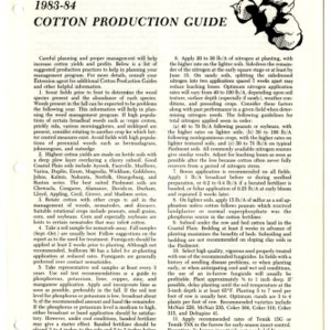 1983-84 cotton production guide (Agricultural Extension Publication 202, Revived)