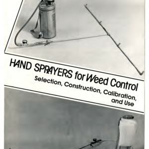 Hand sprayers for weed control: selection, construction, calibration and use (Agricultural Extension Publication 206, Reprint)