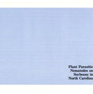 Plant parasitic nematodes on soybeans in North Carolina (Agricultural Extension Service Publication 225)