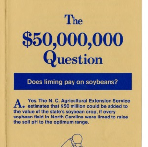 The $50,000,000 question: does liming pay on soybeans? (Agricultural Extension Publication 229)