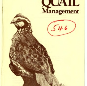 Bobwhite quail management (Agricultural Extension Publication 237, Reprint)