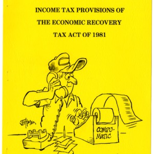 Income tax provisions of the Economic Recovery Tax Act of 1981 (Agricultural Extension Publication 279)