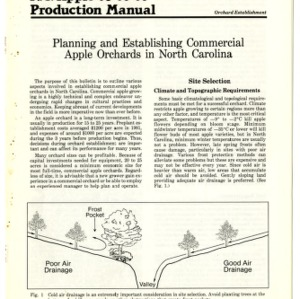 N.C. apple production manual: planning and establishing commercial apple orchards in North Carolina (Agricultural Extension Publication 301)