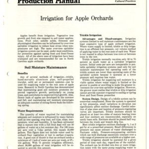 N.C. apple production manual: irrigation for apple orchards (Agricultural Extension Publication 306)