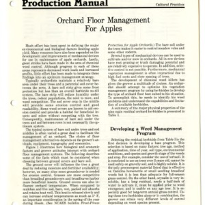N.C. apple production manual: orchard floor management for apples (Agricultural Extension Publication 308)