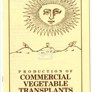 Production of commercial vegetable transplants (Agricultural Extension Publication 337)