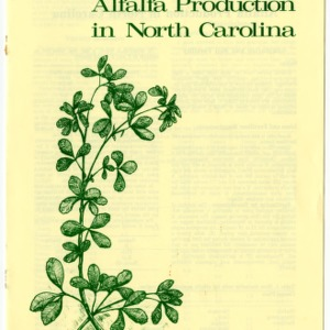 Alfalfa production in North Carolina (Agricultural Extension Publication 344)