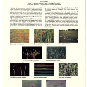 Diseases of cool-season grasses (fescue, bluegrass and ryegrass) (Agricultural Extension Publication 361, Reprint)