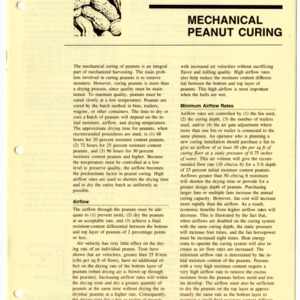 Mechanical peanut curing (Agricultural Extension Publication 406, Revised)