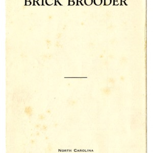 A home-made brick brooder (Extension Folder No. 36)