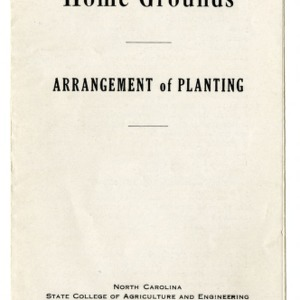 Beautifying the home grounds: arrangement of planting (Extension Folder No. 40)