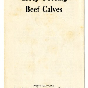 Creep feeding beef calves (Extension Folder No. 49)