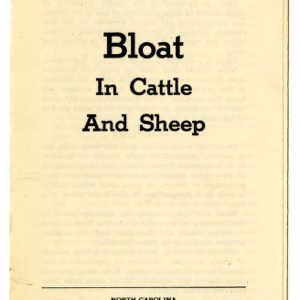 Bloat in cattle and sheep (Extension Folder No. 77, Reprint)
