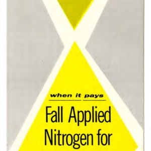 When it pays: fall applied nitrogen for small grain (Extension Folder No. 158)