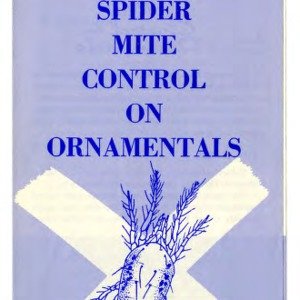 Spider mite control on ornamentals  (Extension Folder 164, Revised)