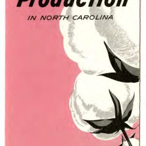 Cotton production in North Carolina (Extension Folder No. 198, Revised)