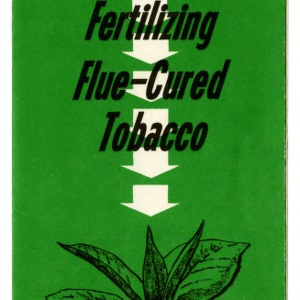 Guides for fertilizing flue-cured tobacco (Extension Folder No. 212, Revised)