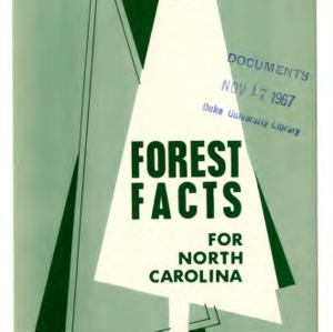 Forest facts for North Carolina (Extension Folder No. 229, Revised)