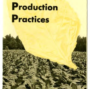 Suggested tobacco production practices (Extension Folder No. 237)