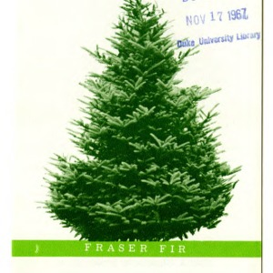 Christmas trees grown in North Carolina (Folder 240)