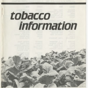 1984 tobacco information (AG-187, Revised)