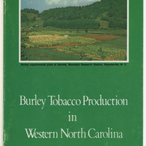 Burley tobacco production in Western North Carollina (AG-190)