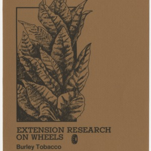 Extension research on wheels: burley tobacco summary report of 1980 data (AG-192, Revised)