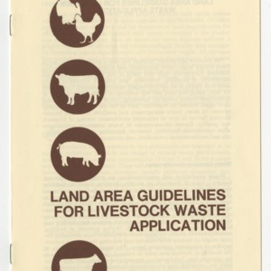 Land area guidelines for livestock waste application (AG-199)