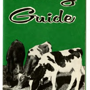 Calf raising guide  (Extension Folder No. 97, Reprint)