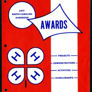 North Carolina 4H Awards Handbook 1973 for Projects, Demonstrations, Activities, Scholarships (4-H Publication 0-1-10, Revised)