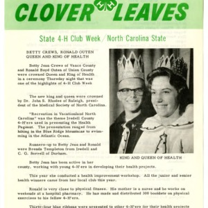 Clover leaves, July 26, 1963