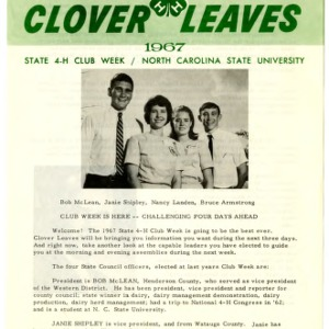 Clover leaves, July 24, 1967