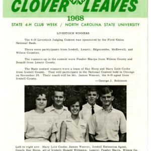 Clover leaves, July 23, 1968