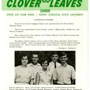 Clover leaves, July 23, 1968