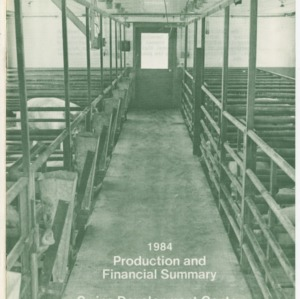 1984 production and financial summary swine development center, Swine Development Center, Rocky Mount, NC (Agricultural Extension Publication 014, Revised)