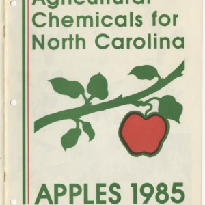 Agricultural chemicals for North Carolina: Apples, 1985 (Agricultural Extension Publication 037)