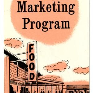 Retail food marketing program: An Extension Service program for food retailers (Extension Folder 183)